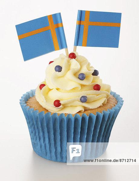 Dekoration  Fahne  2  1  cupcake  weiß  schwedisch  verzieren  Verzierung  Garnierung  garnieren