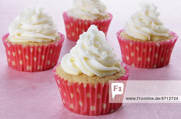 4  klein  weiß  Dekoration  Tasche  pink  Perle  cupcake  Punkt