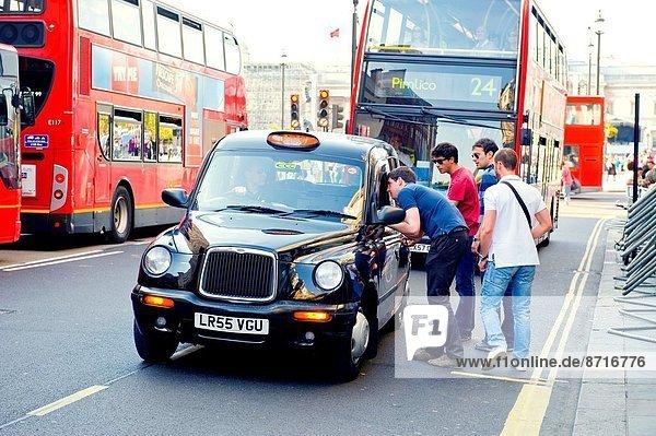 Symbol London Hauptstadt Omnibus rot Taxi