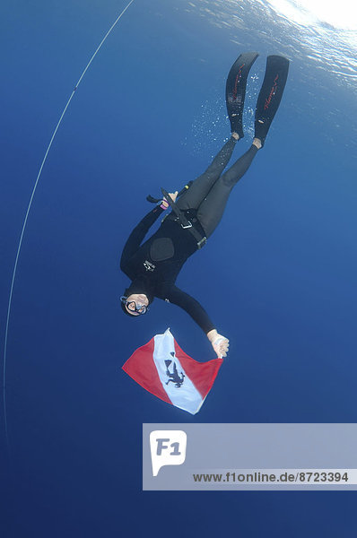 halten Fahne Ägäisches Meer Ägäis