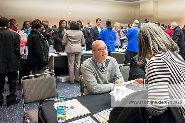 Detroit  Michigan - A job fair organized by the city of Detroit to fill 350 vacant city positions.