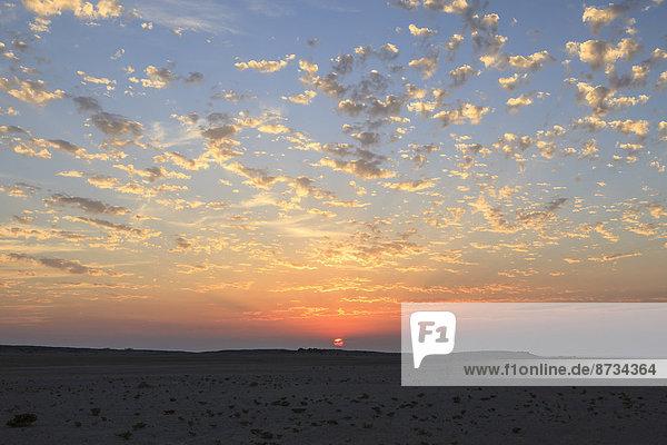 Himmel bei Sonnenuntergang  Masira  Oman