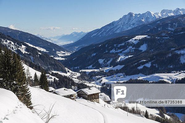 Österreich Kärnten Winterlandschaft