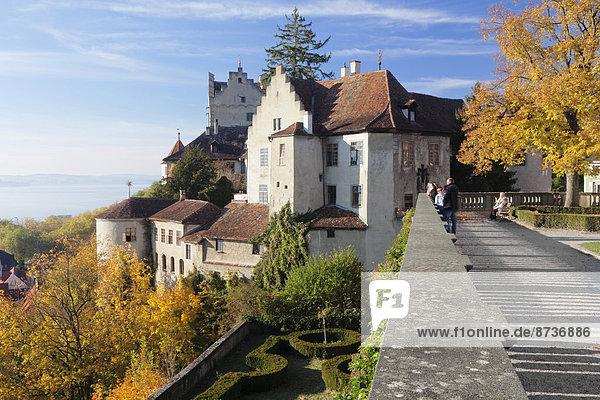 Aussichtsterrasse am Neuen Schloss  Meersburg  Baden-Württemberg  Deutschland
