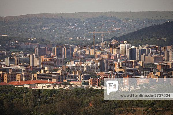 Stadtansicht von Pretoria  Gauteng  Südafrika