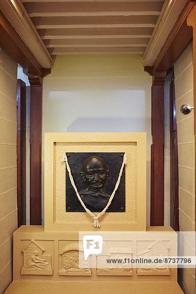 Relief von Mahatma Gandhi  Gandhi-Museum  Mumbai  Maharashtra  Indien