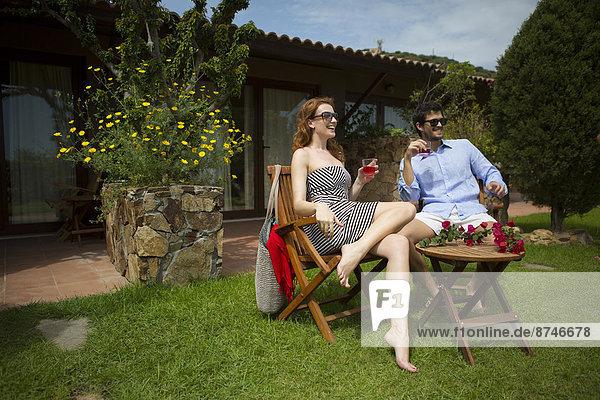 Außenaufnahme  Entspannung  Hotel  Getränk  Italien  freie Natur  Sardinien