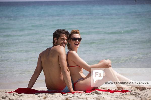 Entspannung Strand Sommer Urlaub jung