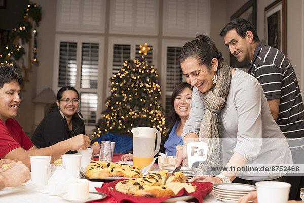 Fröhlichkeit Tradition Hispanier Weihnachten Dessert