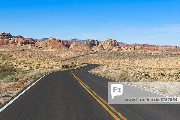 leer  führen  Fernverkehrsstraße  Wüste