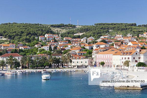 Hafen Stadt Ansicht Kroatien Dalmatien