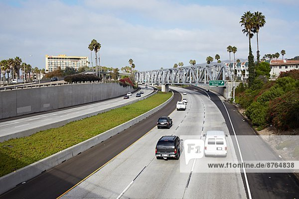 View of traffic  California  USA