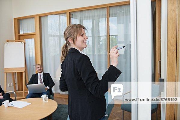 einsteigen  Stockholm  Hauptstadt  Frau  Geschäftsbesprechung  schreiben  Zimmer  Konferenz  Schweden