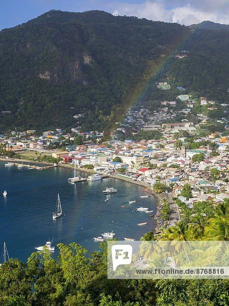 Caribbean  St. Lucia  View on Soufriere