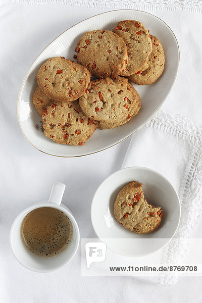 Glutenfree Carrot Almond Cookies from buckwheat flour and coffee cup