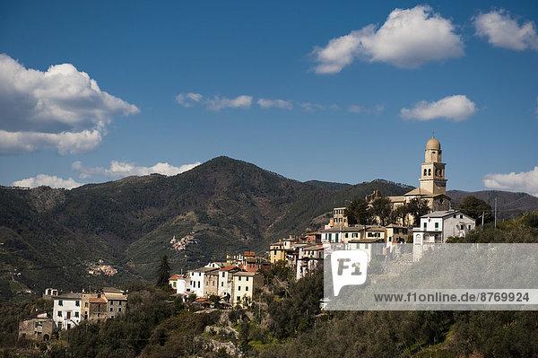 Ortsansicht Legnaro  Levanto  Cinque Terre  Unesco-Weltkulturerbe  Ligurien  Italien