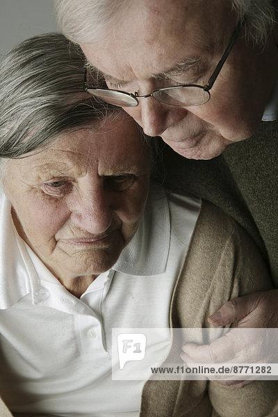 Portrait of senior couple  close-up