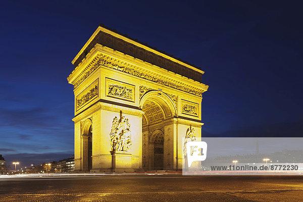 Arc de Triomphe  Paris  Region Île-de-France  Frankreich