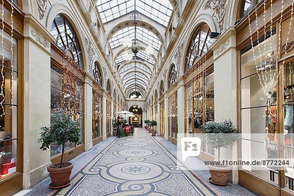 Galerie Vivienne  Einkaufspassage  Paris  Region Île-de-France  Frankreich