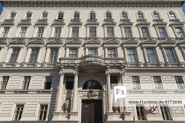 Wien Hauptstadt Eingang Fassade Hausfassade Österreich Portal