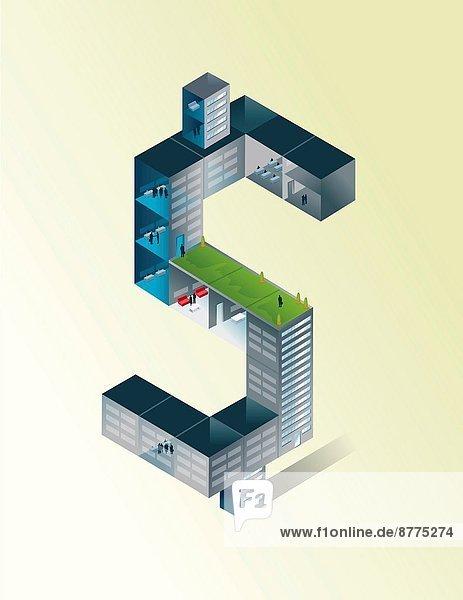 Farbaufnahme  Farbe  Gebäude  Illustration  Hintergrund  Dollar  Form  Formen