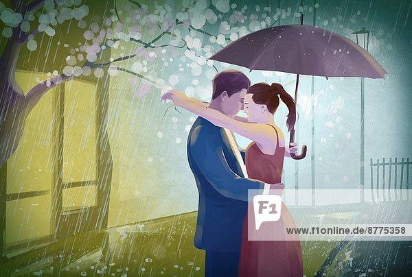 umarmen  Regenschirm  Schirm  Illustration  Regen umarmen ,Regenschirm, Schirm ,Illustration ,Regen
