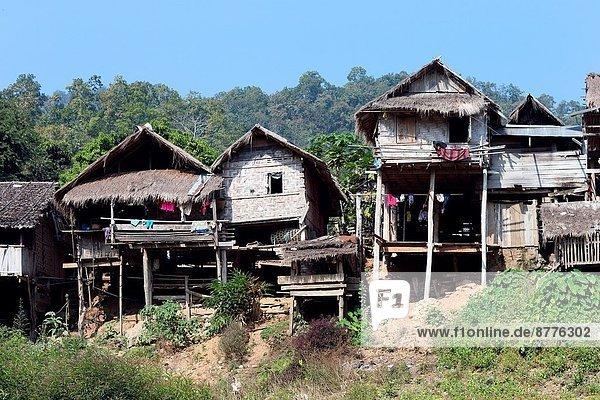 Dorf Südostasien verboten Mae Hong Son Flüchtling Thailand