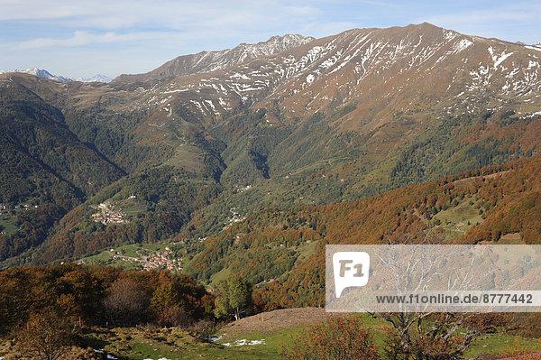 Berg  Tal  Herbst  Schweiz