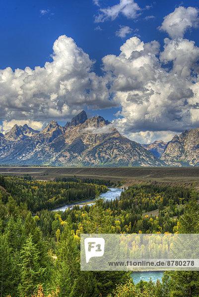 Vereinigte Staaten von Amerika  USA  Nationalpark  Amerika  Landschaft  Fluss  Grand Teton Nationalpark  Wyoming
