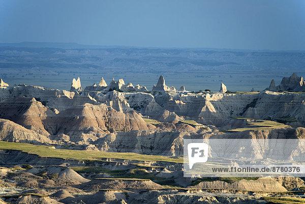 Vereinigte Staaten von Amerika  USA  Nationalpark  Felsbrocken  Amerika  Landschaft  Steppe  South Dakota