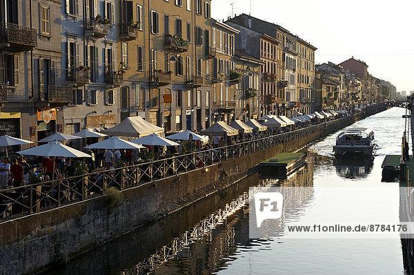 Italy  Lombardy  Milan  Naviglio Grande canal