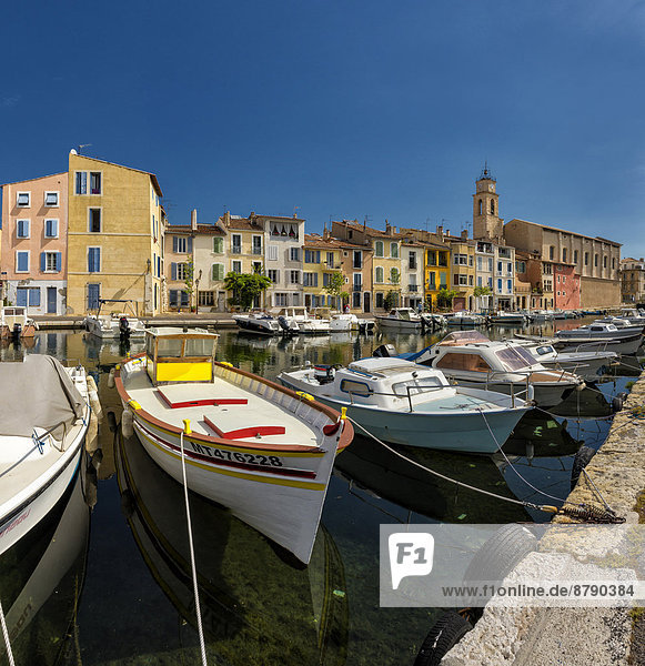 Quai Marceau  town  village  water  summer  ships  boat  Martique  Bouches du Rhone  France  Europe