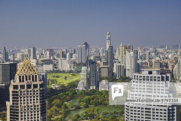 Bangkok  Hauptstadt  Panorama  Skyline  Skylines  grün  Reise  Architektur  Hochhaus  Zimmer  Asien  Innenstadt  Thailand