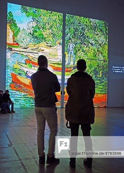 Italien,  Lombardei,  Mailand,  Fabbrica del Vapore,  Van GoghAlive Ausstellung seiner Gemälde computerisiert