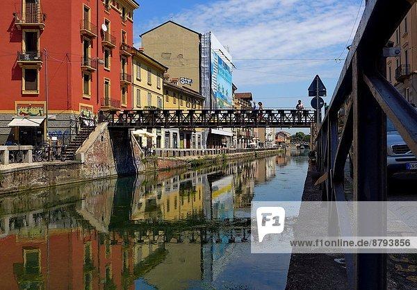 Italy  Lombardy  Milan  Navigli  Ripa di Porta Ticinese