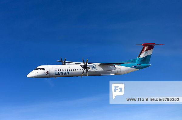 Luxair De Havilland Canada DHC-8-402Q Dash 8 in flight