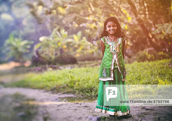 Lächelndes Mädchen  Kerala  Südindien  Indien Lächelndes Mädchen, Kerala, Südindien, Indien