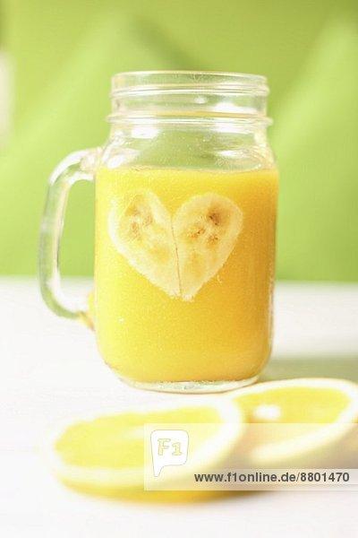Orangen-Bananen-Saft
