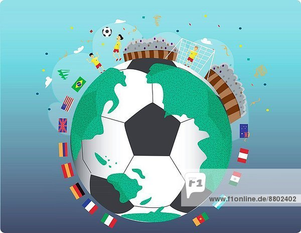 Fotografie  Vielfalt  Fahne  Fußball  Ball Spielzeug  Symbol  Sport