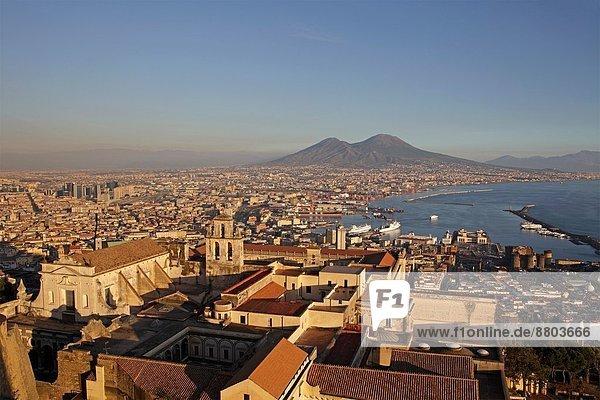 entfernt  Ansicht  Berg  Italien  Neapel