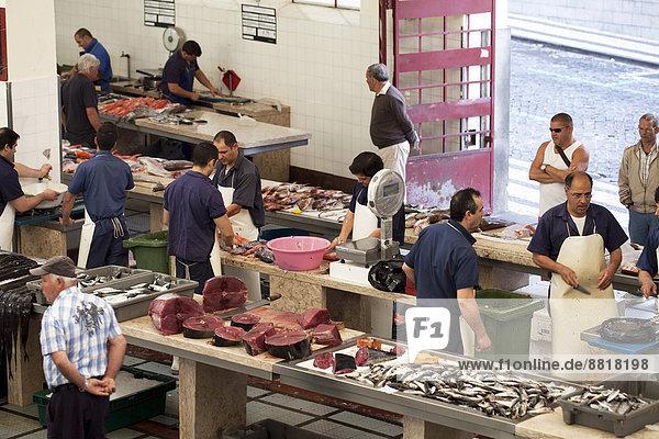Fischmarkt  Mercado dos Lavradores  Funchal  Madeira  Portugal