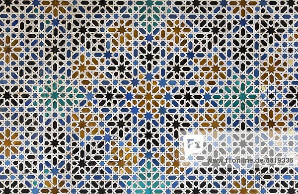 MudejarFliesen Mit Maurischem Geometrischem Muster Im Alcázar Von - Andalusische fliesen