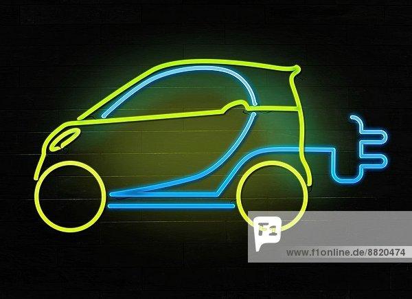 Fotografie  Auto  Konzept  grün  gehen  Elektrische Energie  Symbol