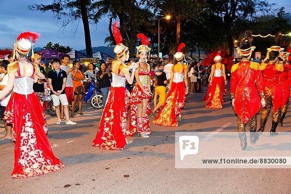 Teilnahme  Parade  Phuket  Thailand