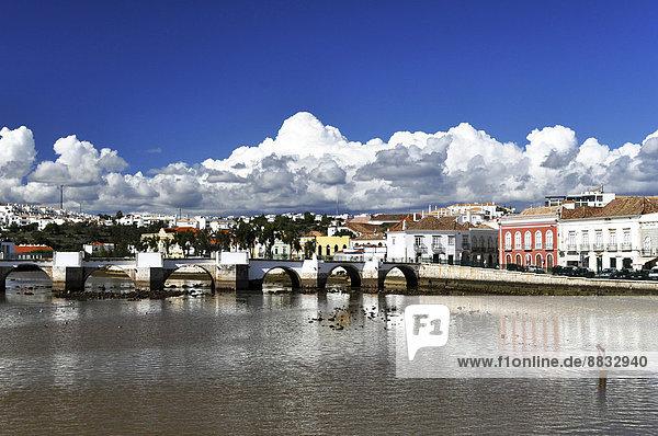 Portugal  Algarve  Tavira  Old town and bridge
