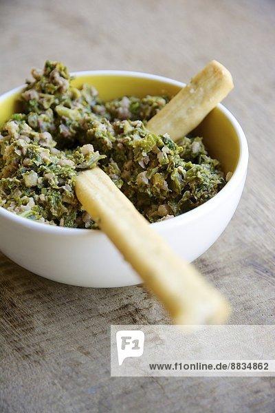 Homemade kale and walnut pesto Homemade kale and walnut pesto