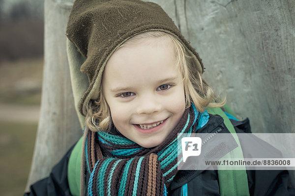 Germany  Mecklenburg-Western Pomerania  Ruegen  portrait of smiling little boy