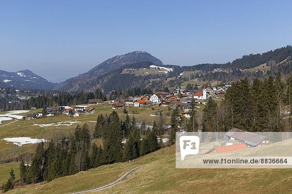 Österreich  Vorarlberg  Bregenzerwald  Sibratsgfaell