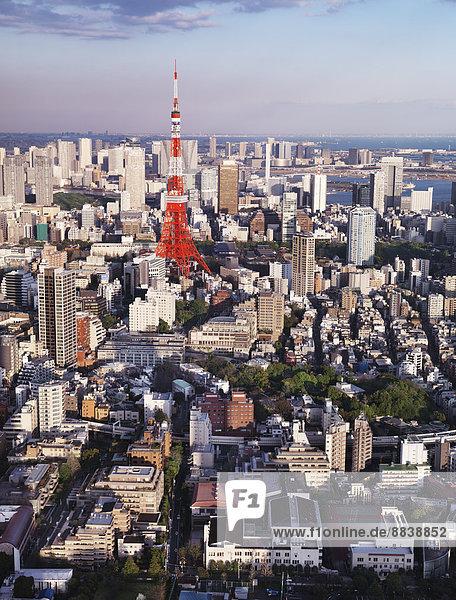 Tokyo Tower  Stadtbild  Tokio  Japan