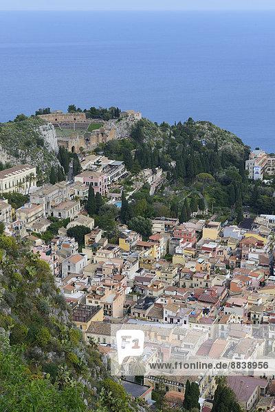 Ansicht Italien Sizilien Taormina